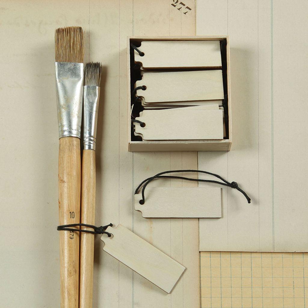 HomArt Mini Wood Hangtag - Box of 24 Natural