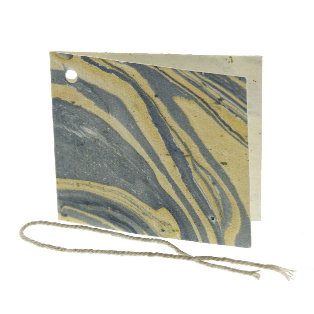 HomArt Marbleized Paper Gift Tag - Blue