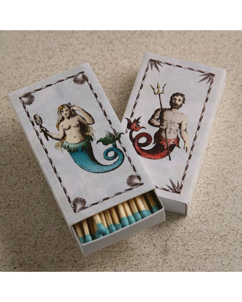 HomArt Mermaid/Neptune HomArt Nautical Matches - Set of 3 Boxes