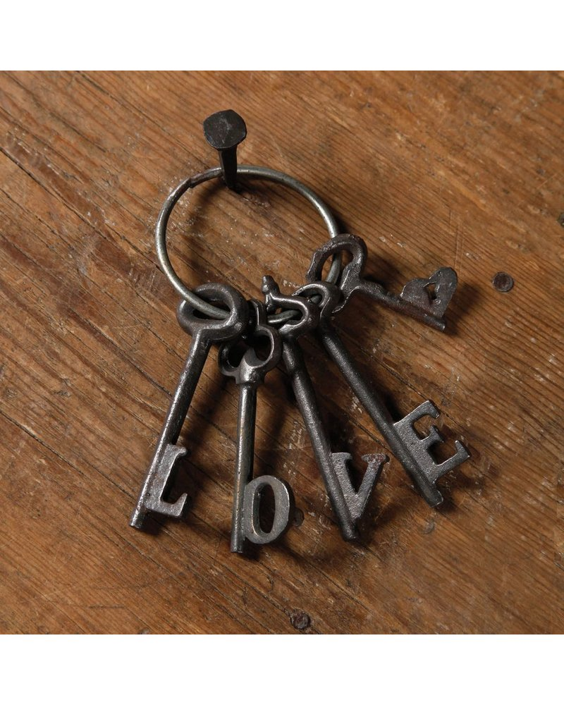 HomArt Love Keys - Cast Iron Natural
