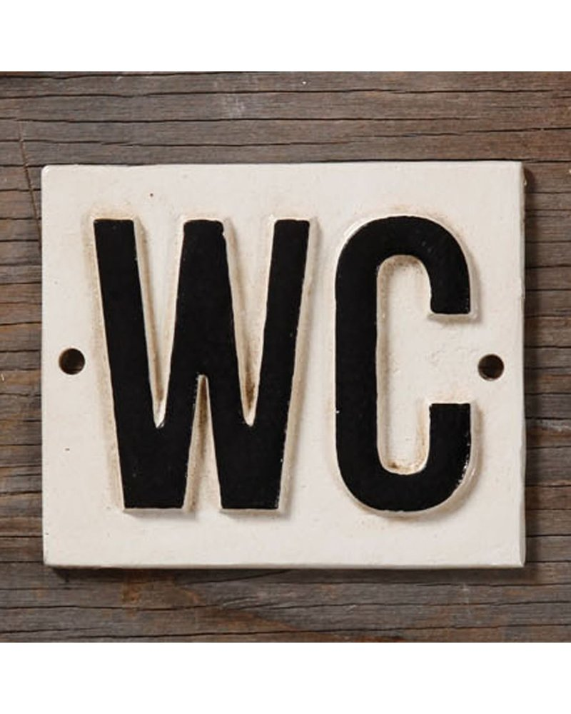 HomArt Cast Iron Sign - WC