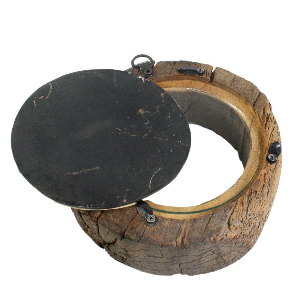 HomArt Salvaged Wood Wheel Photo Frame