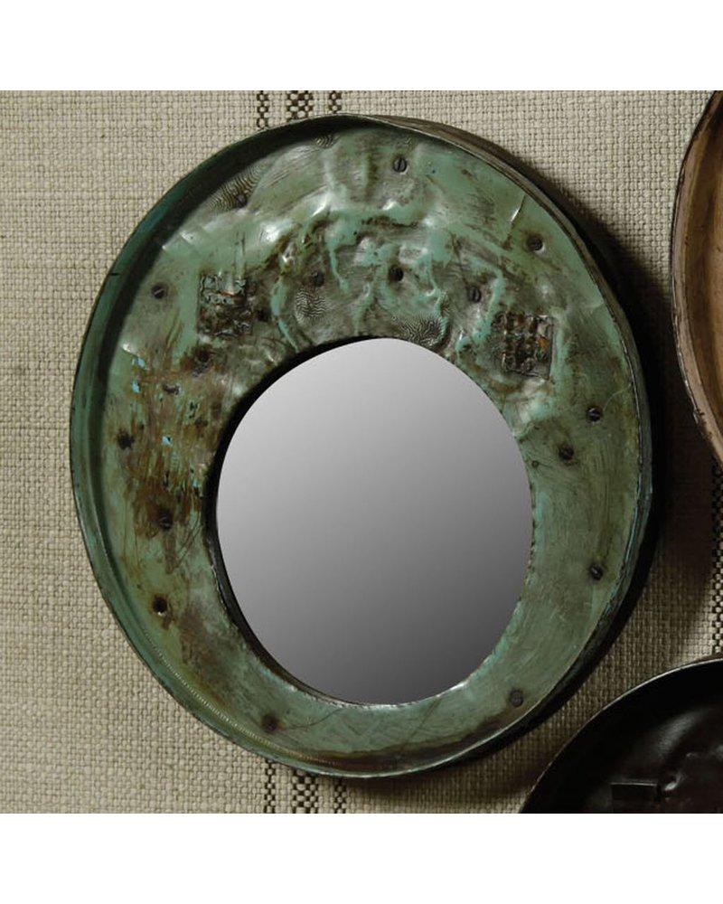 HomArt Reclaimed Metal Drum Lid Mirror Grey