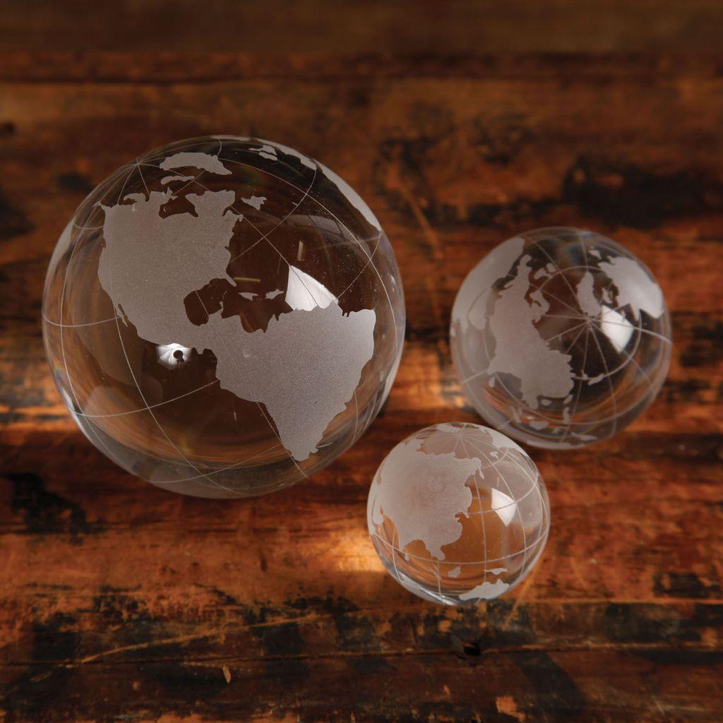 HomArt Etched Glass Globe - Med