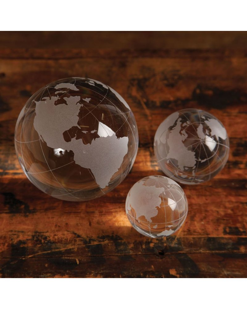 HomArt Etched Glass Globe - Lrg