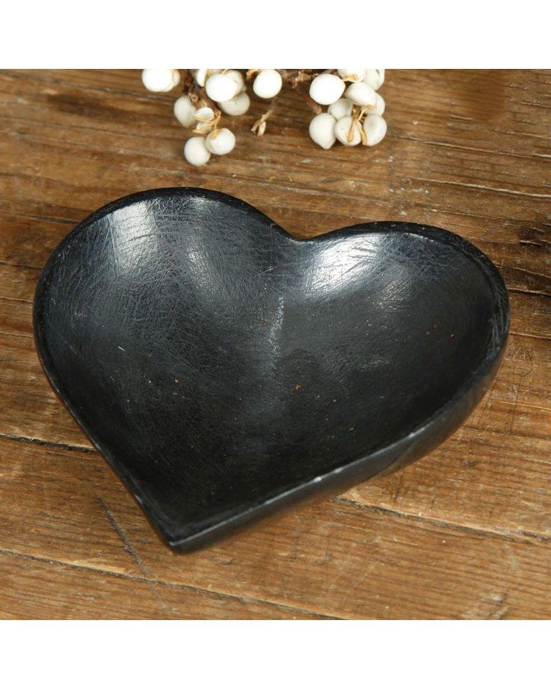 HomArt Soapstone Heart Bowl - Sm Black