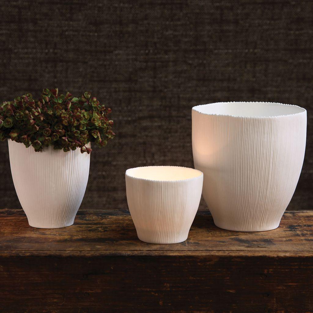 HomArt Agora Bone China Vase - Sm White