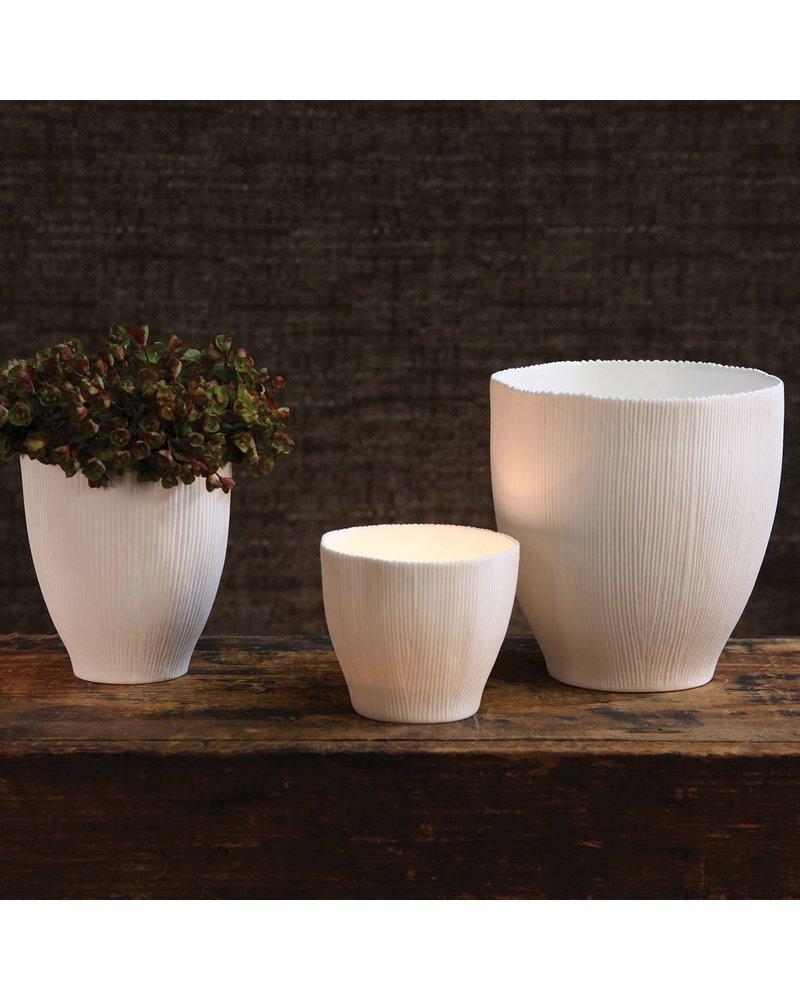 HomArt Agora Bone China Vase - Med White