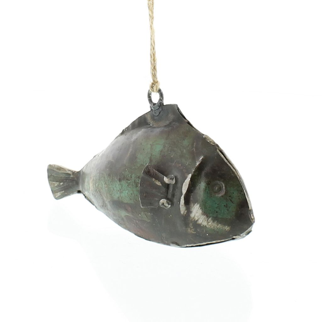 HomArt Reclaimed Metal Fish Ornament