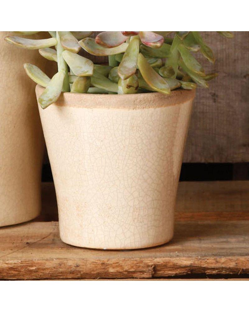 HomArt Mulberry Ceramic Cachepot - Sm White