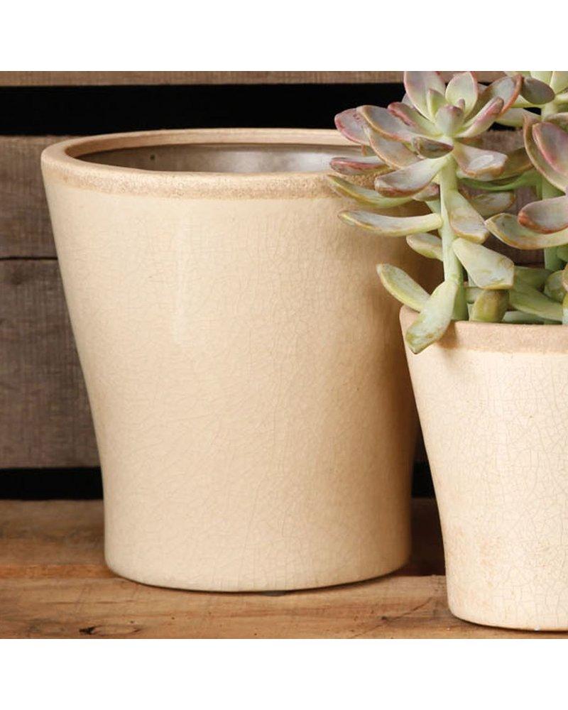 HomArt Mulberry Ceramic Cachepot - Med White