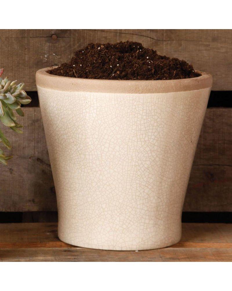 HomArt Mulberry Ceramic Cachepot - Lrg White