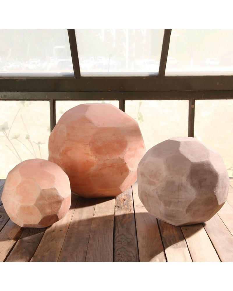 HomArt Terracotta Faceted Sphere - Med
