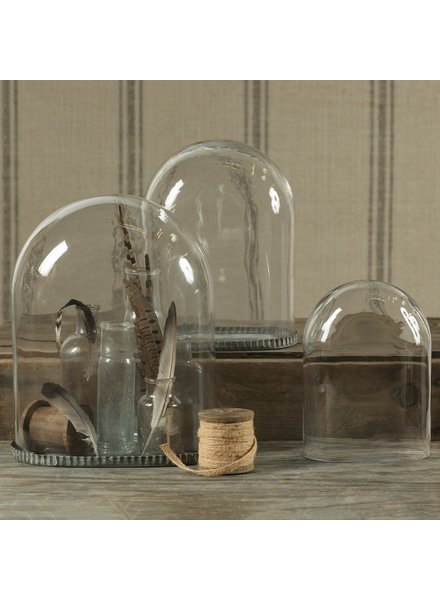 HomArt Oval Glass Dome-Lrg Clear