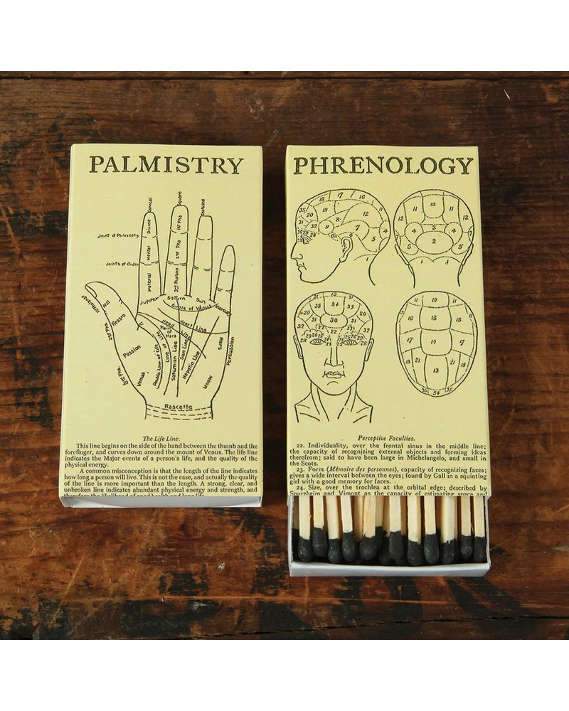 HomArt Phrenology and Palmistry HomArt Matches - Set of 3 Boxes
