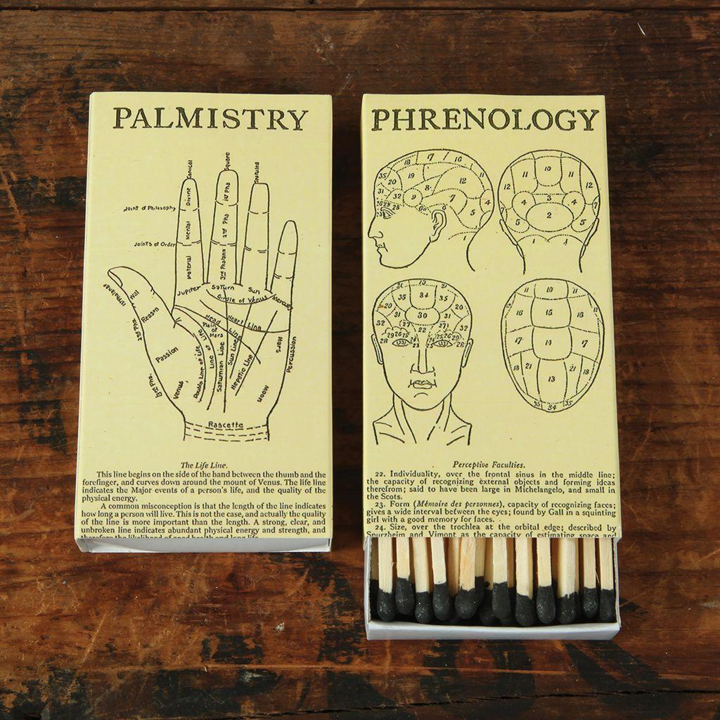 HomArt Phrenology and Palmistry HomArt Matches - Set of 3 Boxes