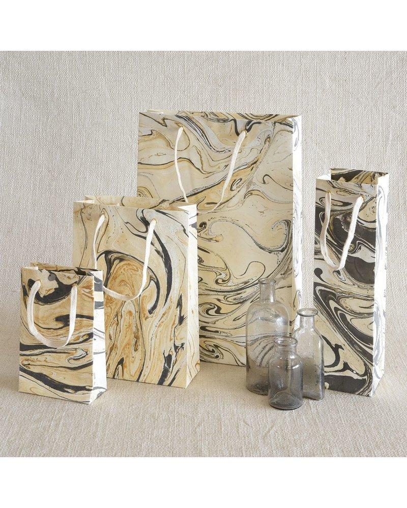 HomArt Marbleized Paper Gift Bag - Lrg-Grey