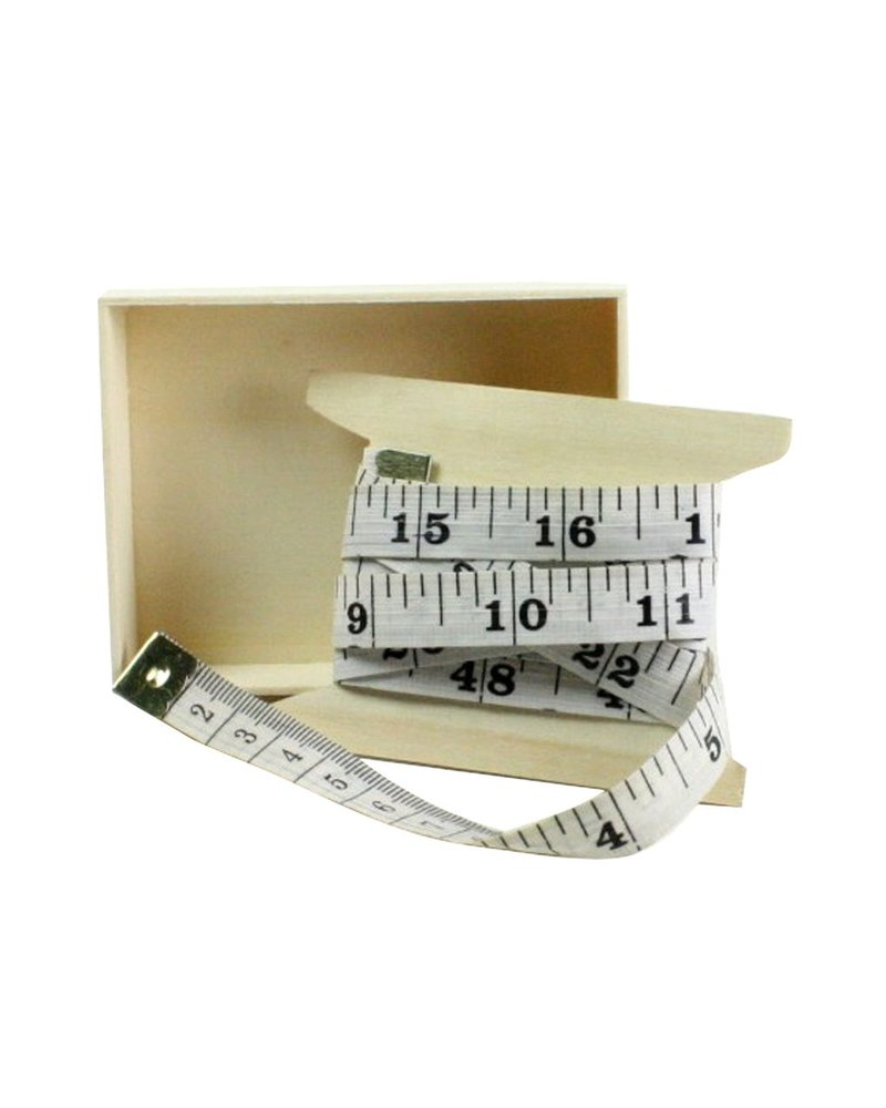 HomArt Vinyl Tape Measure White with Black Print