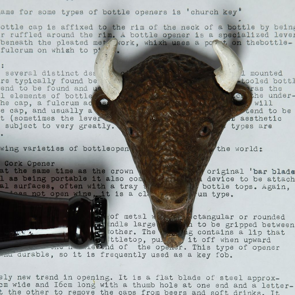 HomArt Buffalo HomArt Cast Iron Bottle Opener