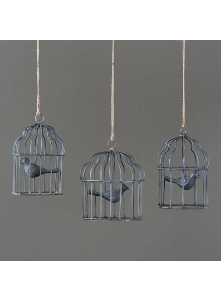 HomArt Birdcage Ornaments - Set of 3-Zinc