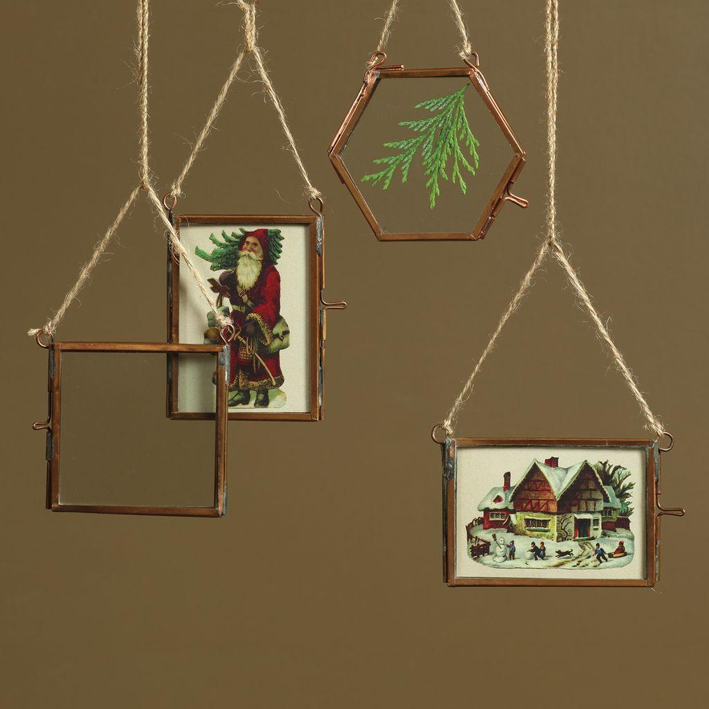 HomArt Cornell Ornament Frame - 3.25 x3.0 Hexagon - Copper
