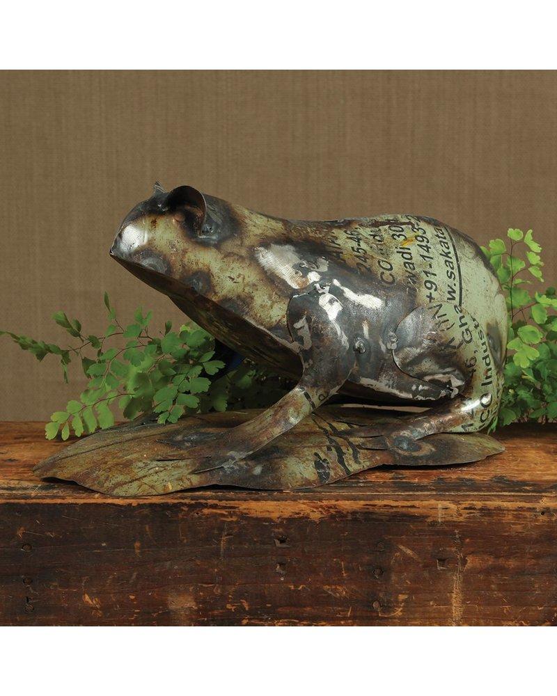 HomArt Reclaimed Metal Frog Statue