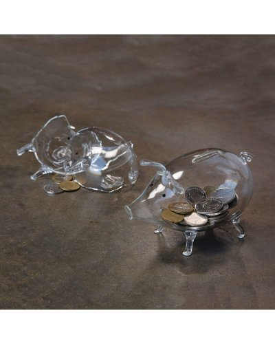 HomArt Piggy Bank - Glass Clear