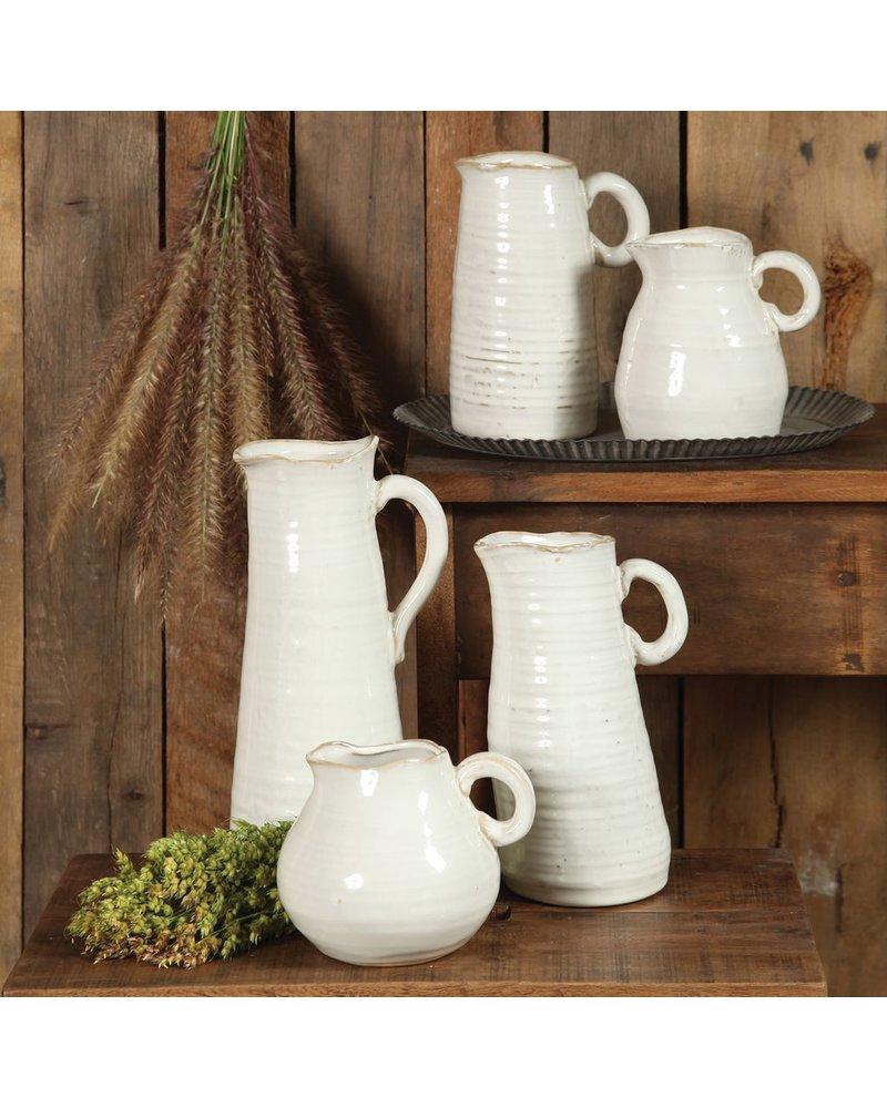 HomArt Summerland Ceramic Vase - Lrg Cream