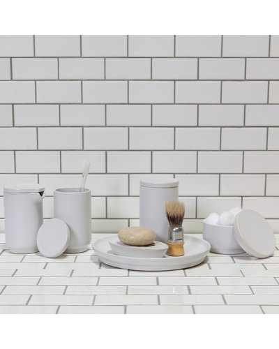HomArt Luna Ceramic Bowl with Lid Matte White