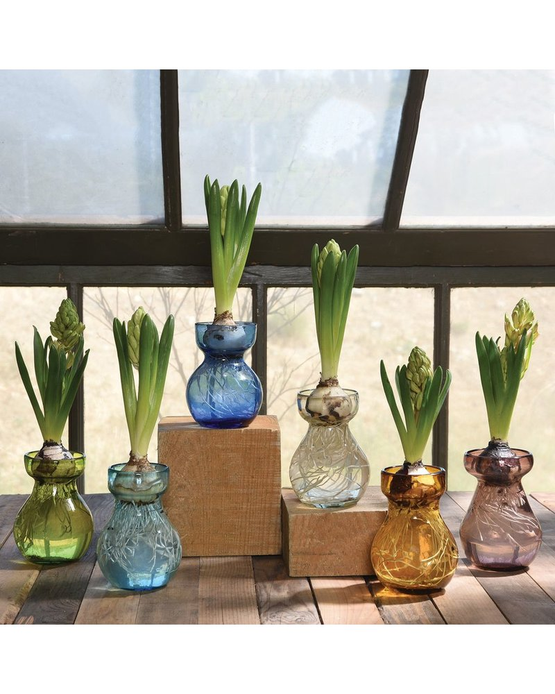 HomArt Bulb Vase Recycled Clear