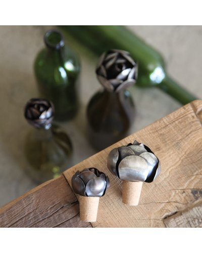 HomArt Flower Wine Bottle Stop - Iron - Sm