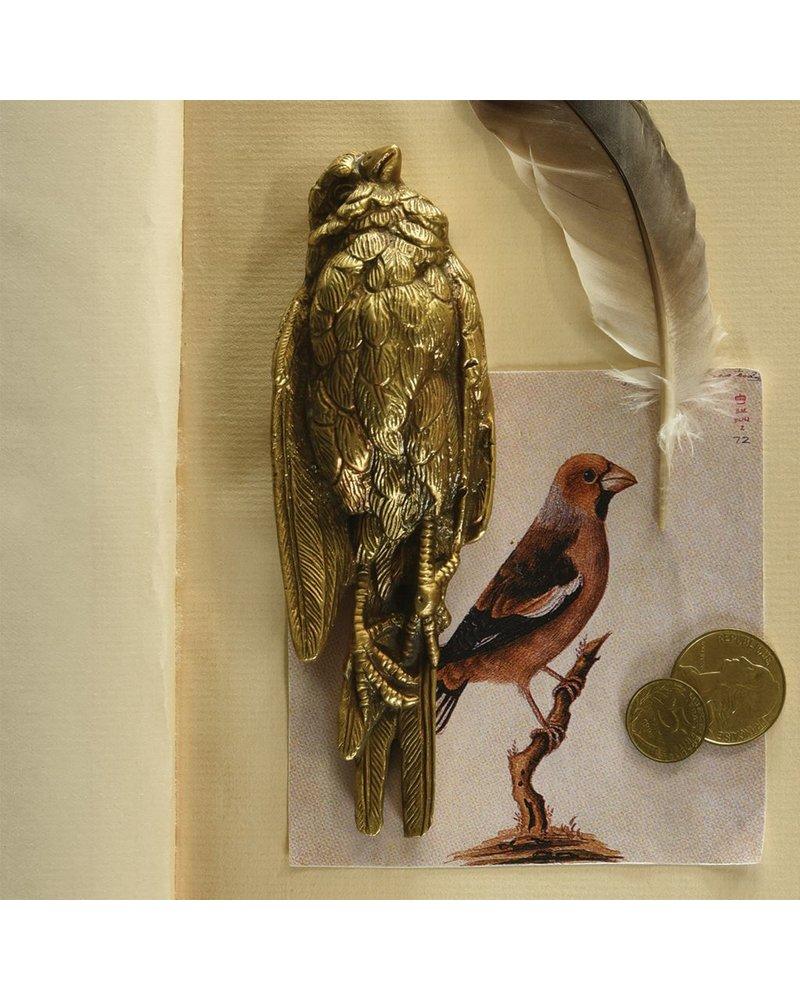 HomArt Still Bird Brass Paperweight-Antique Brass