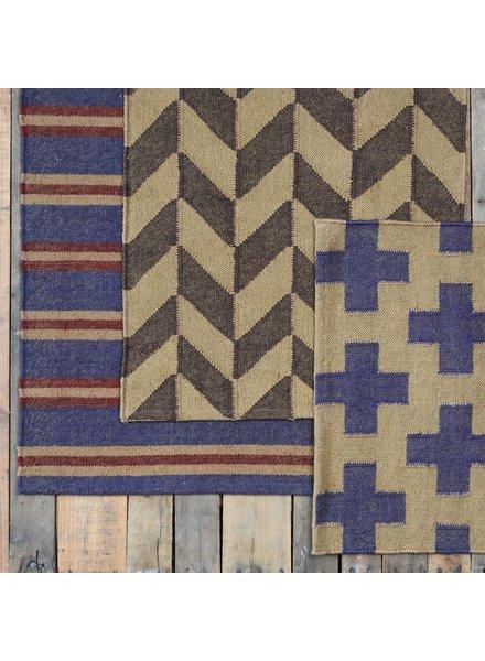 HomArt Heritage Kilim Rug 2x3-Ivory / Red Stripe
