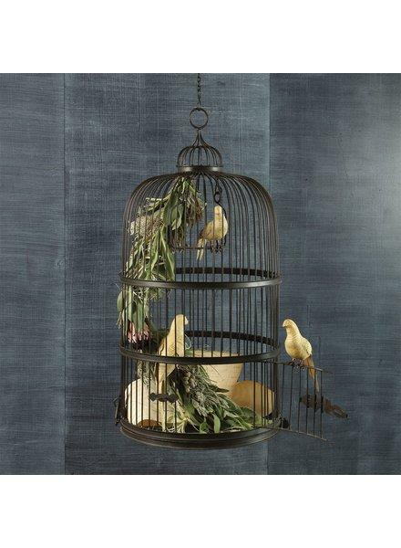 HomArt Grand Aviary Iron Bird Cage - Black Waxed