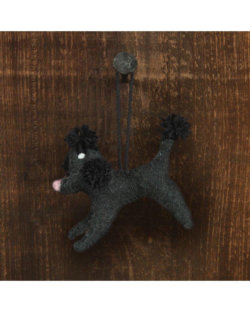 HomArt Felt Dog Ornament - Black Poodle