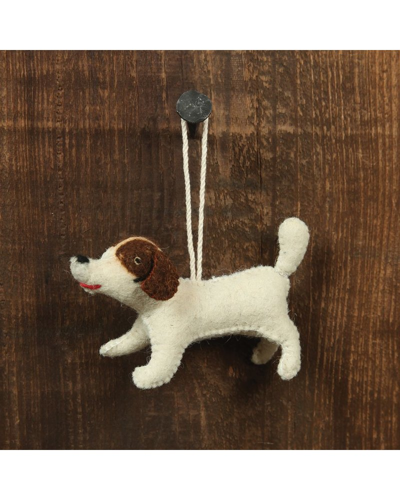 HomArt Felt Dog Ornament - Brown Spotted Terrier