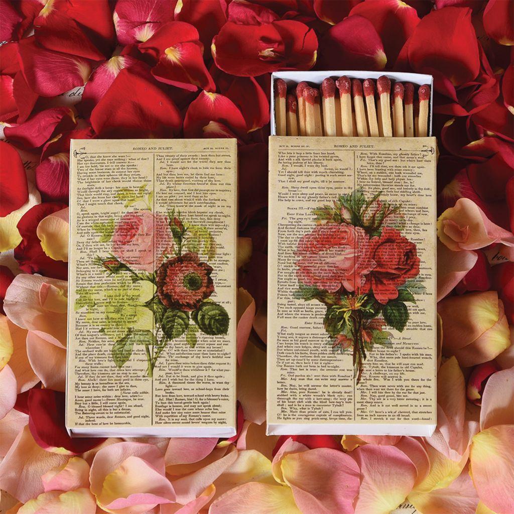 HomArt Romantic Roses HomArt Floral Matches - Set of 3 Boxes