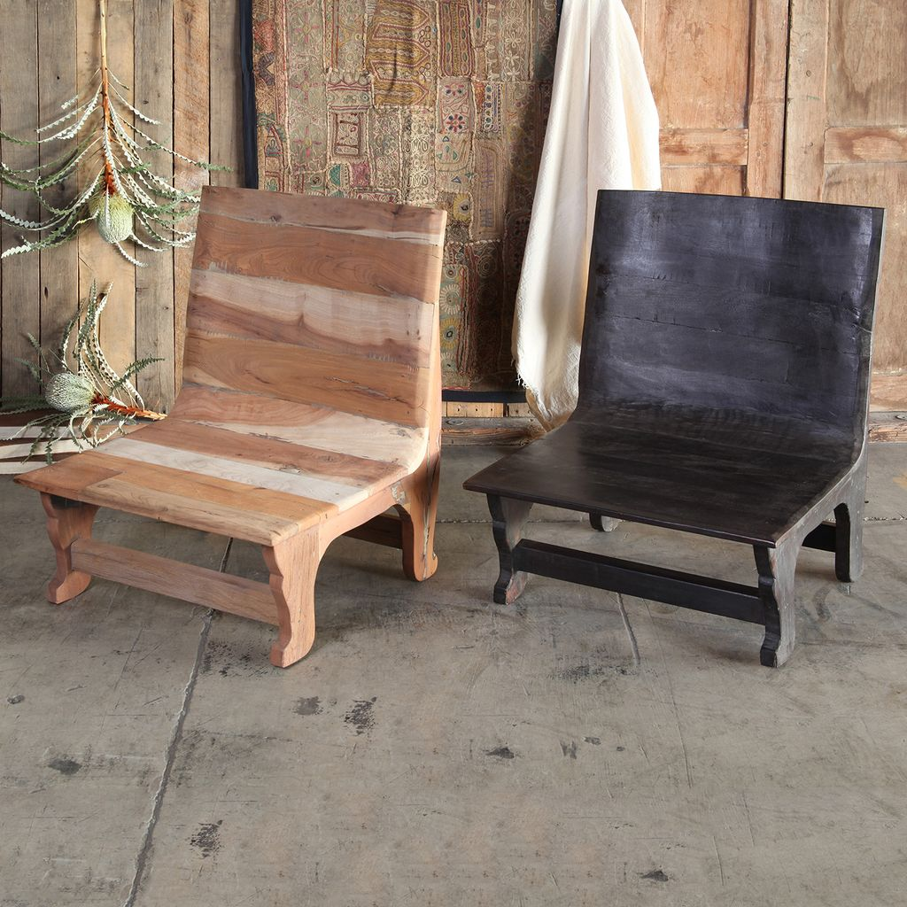 HomArt Avalon Wood Chair - Dark Stained