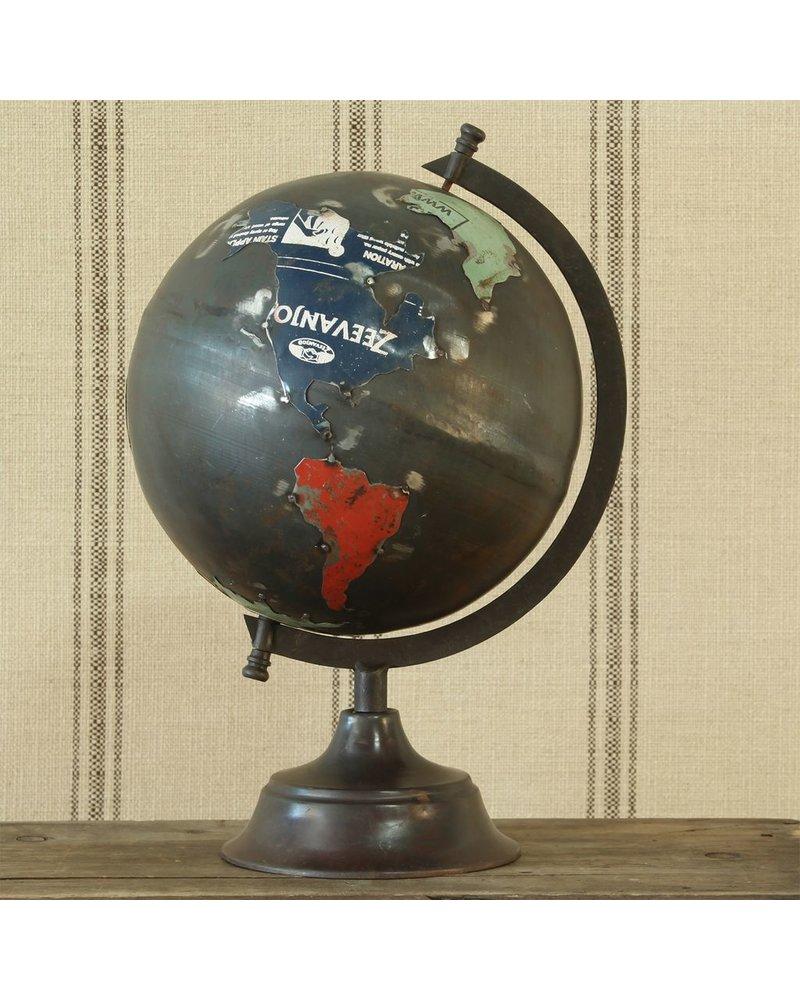 HomArt Reclaimed Metal Globe - Lrg