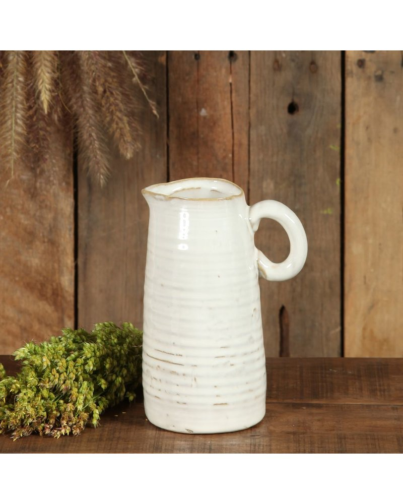 HomArt Summerland Ceramic Vase - Med Cream