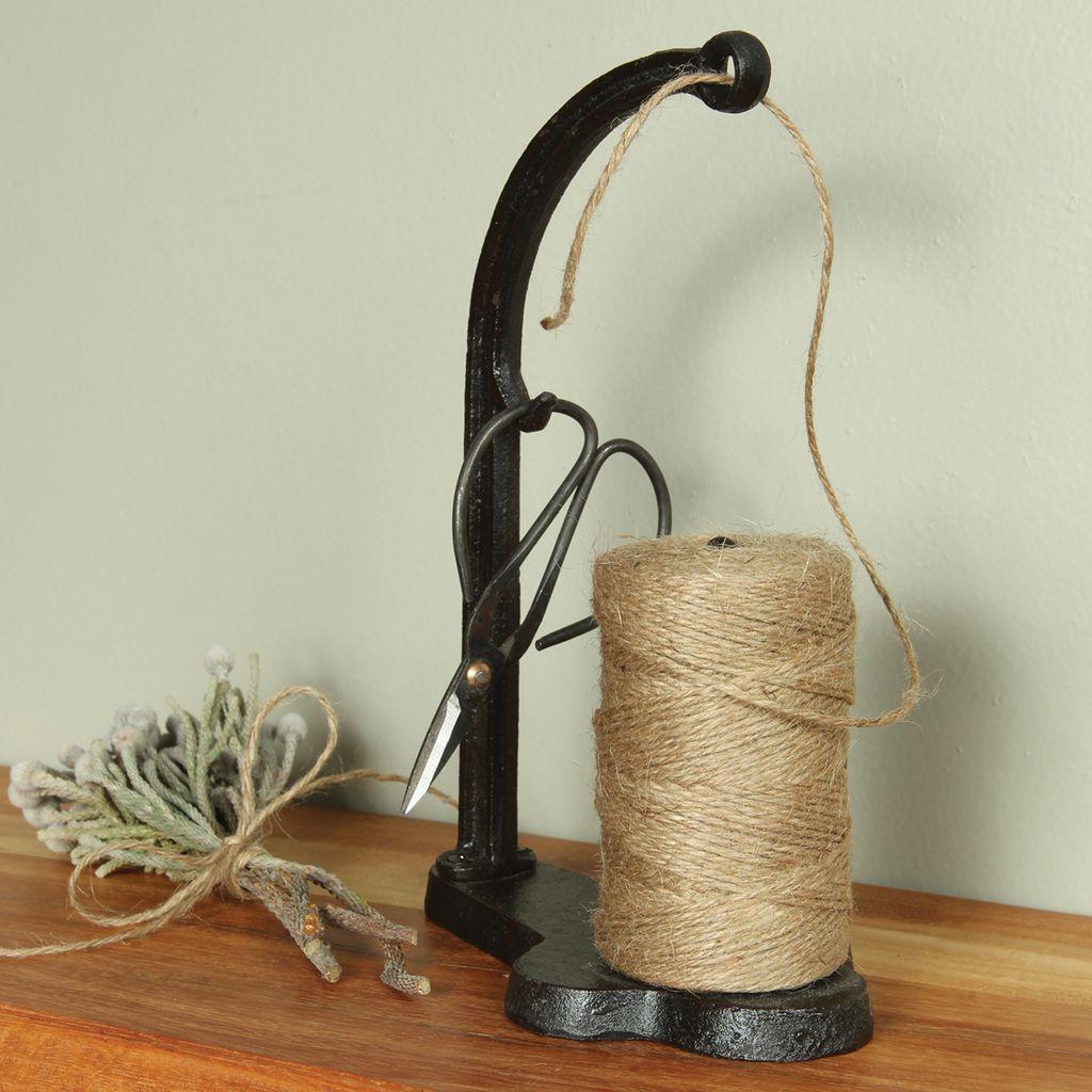 HomArt Jute Dispenser - Cast Iron - Antique Black