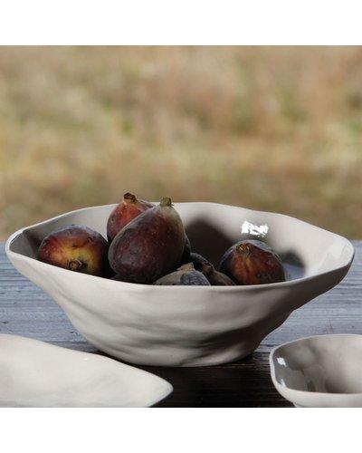 HomArt Reid Ceramic Bowl - Lrg - White