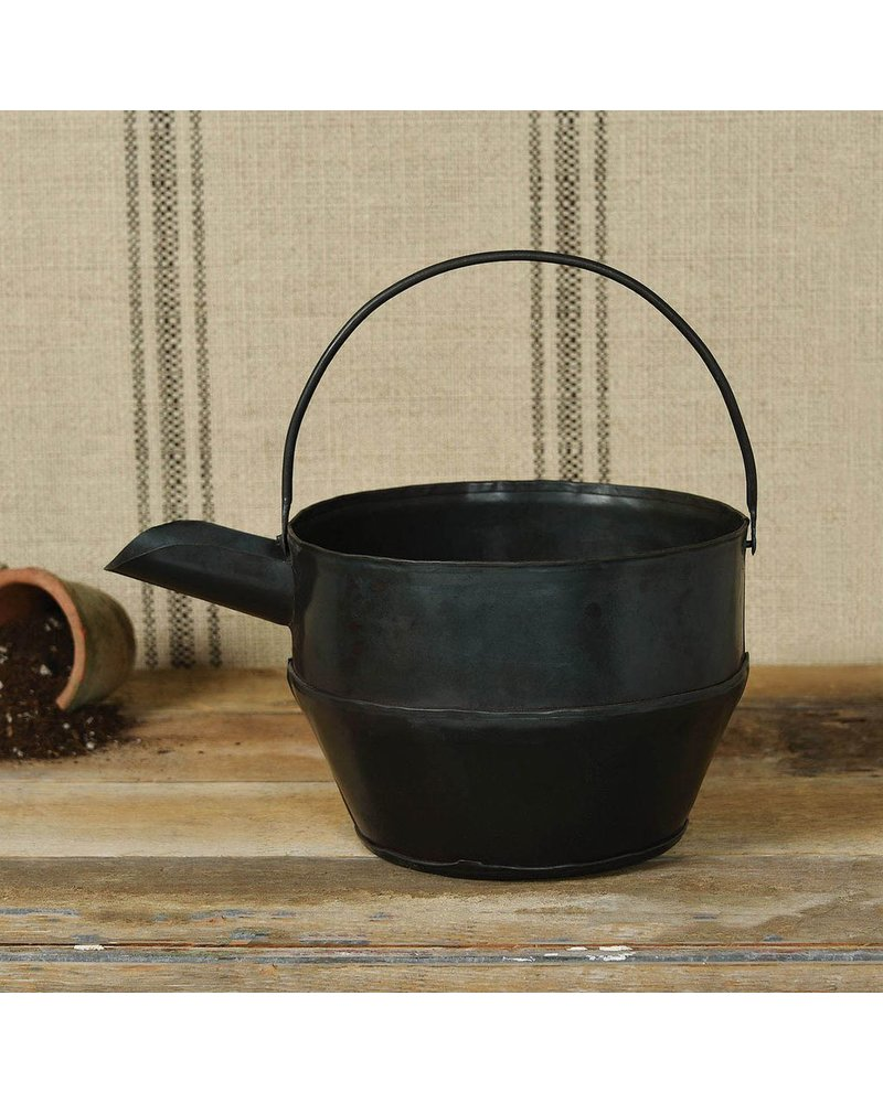 HomArt Metal Watering Can - Waxed Black