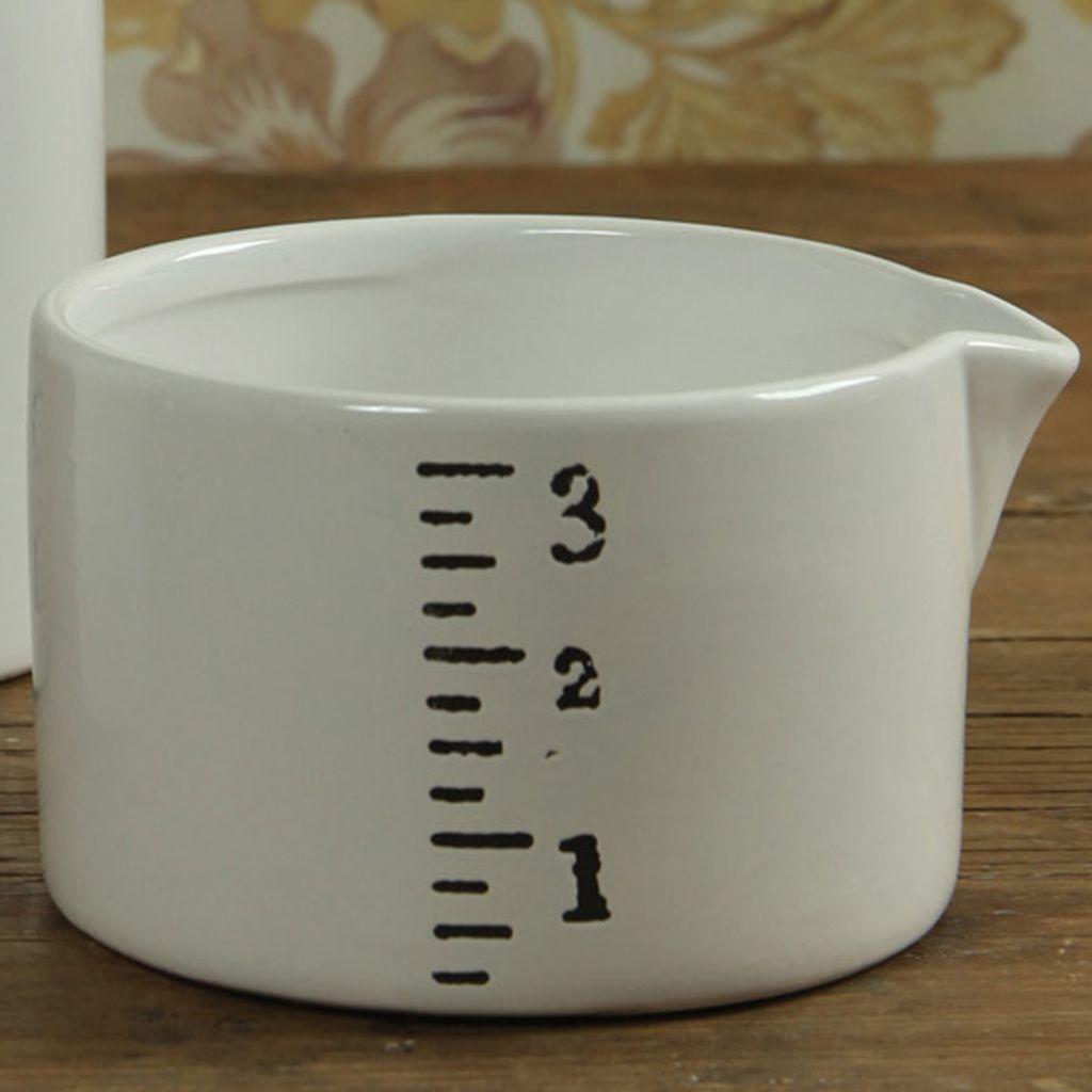 HomArt Ruled Ceramic Container - Sm - White-Black