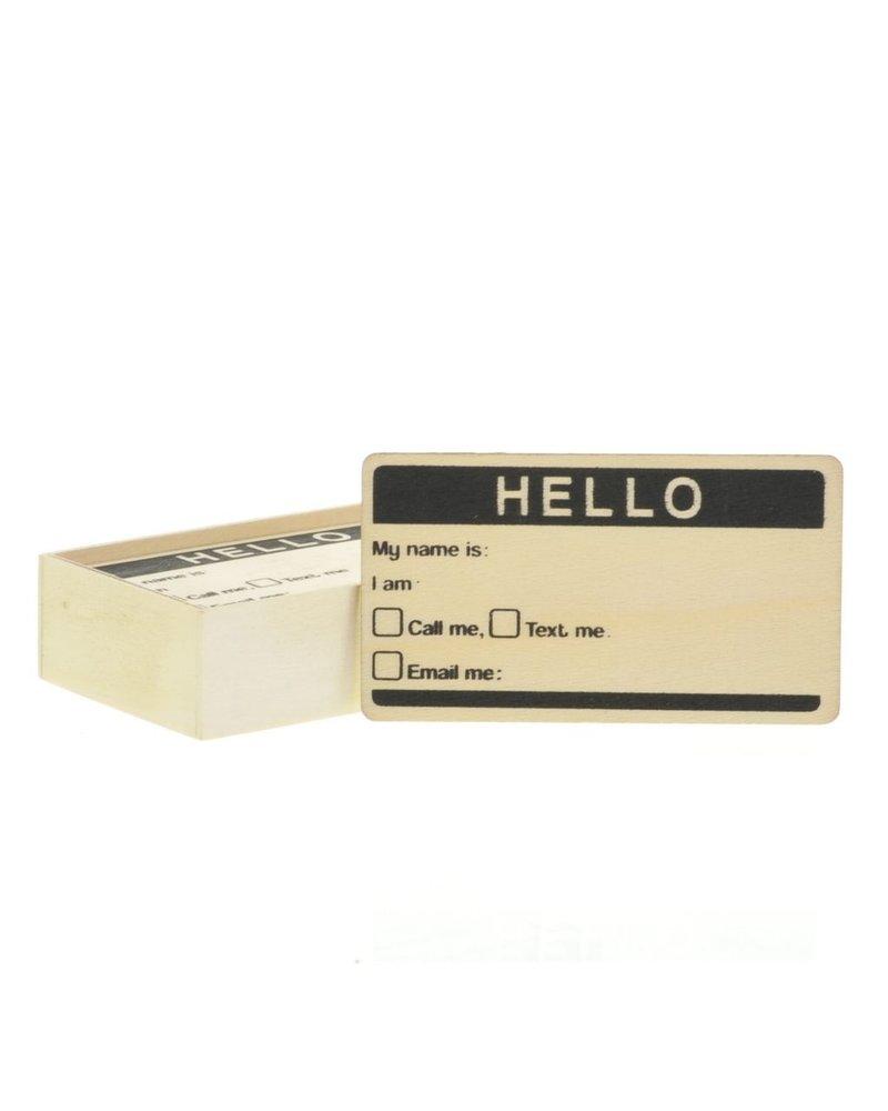HomArt Calling Card - Box of 12 - Natural Wood