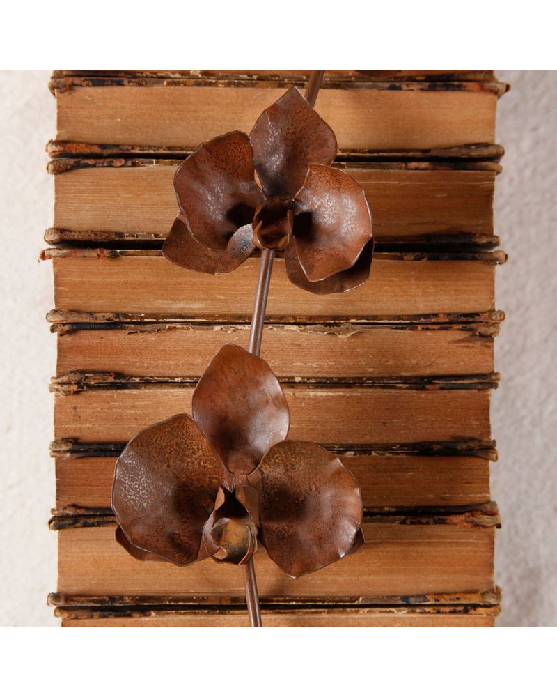 HomArt Metal Orchid Spike - Rust