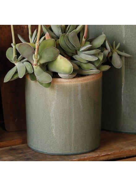 HomArt Mulberry Ceramic Cylinder Vase - Sm - Teal