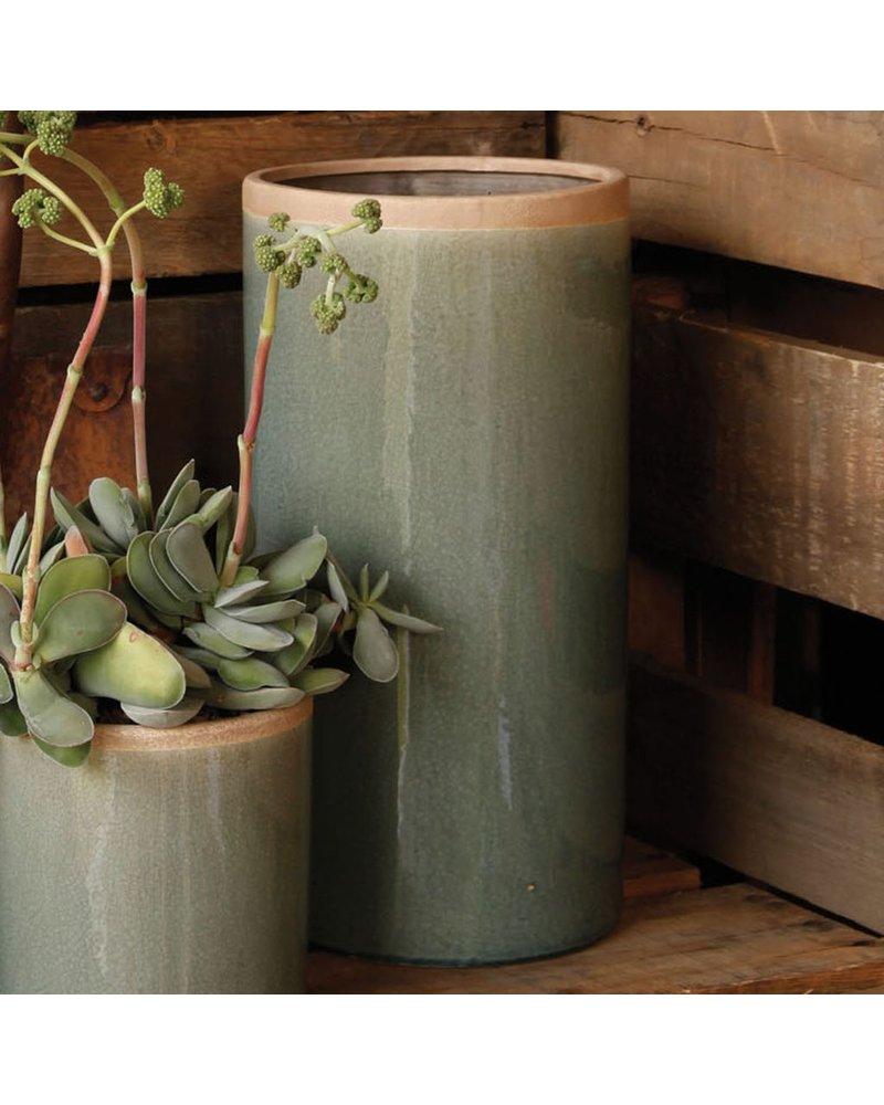 HomArt Mulberry Ceramic Cylinder Vase - Lrg - Teal