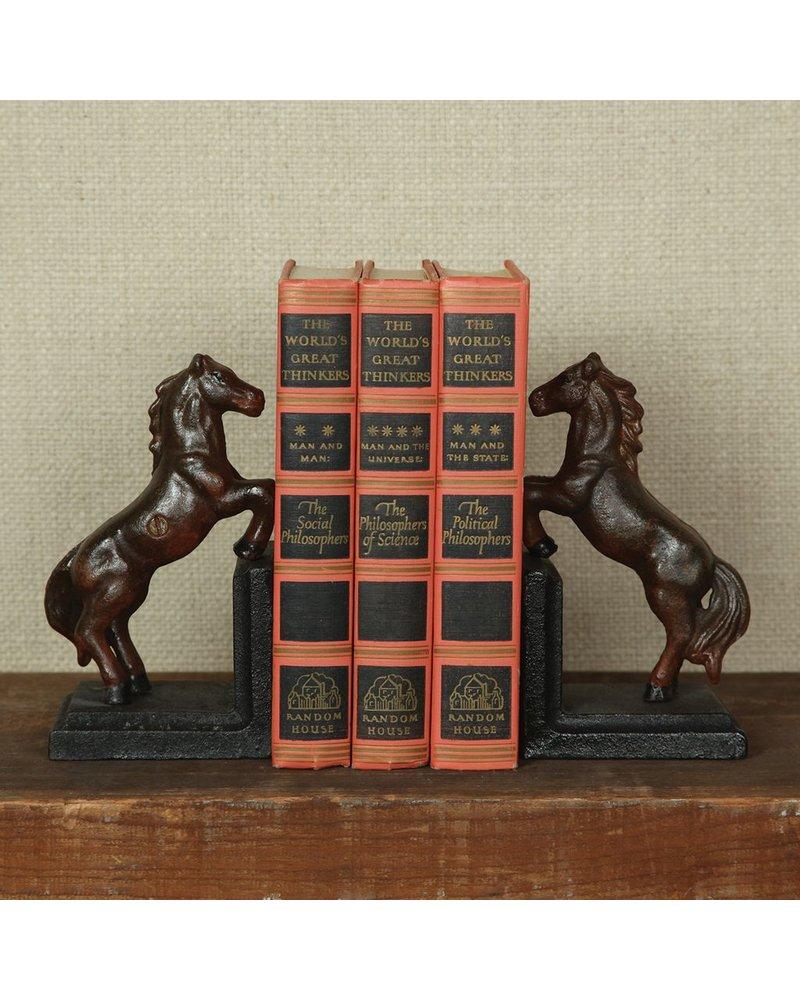 HomArt Horse Bookends - Cast Iron - Rust