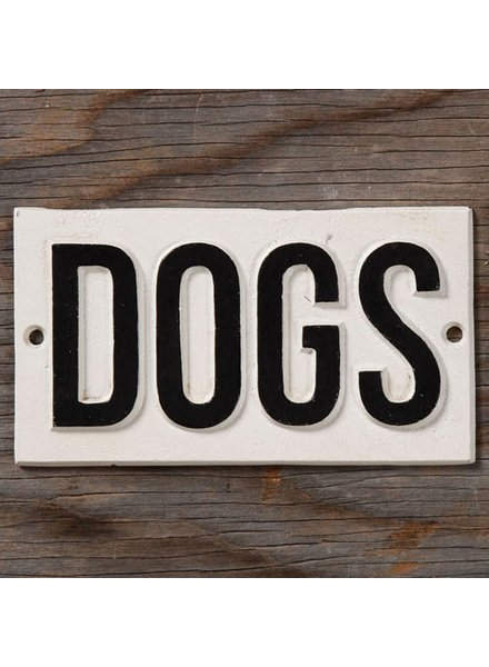 HomArt Cast Iron Sign - DOGS